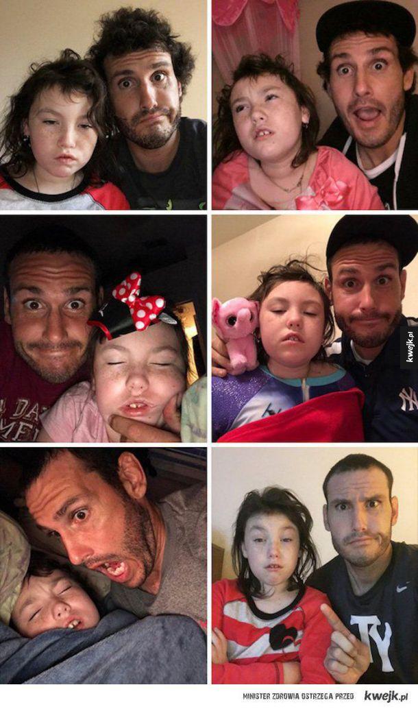 Koleś codziennie budzi swoją córkę o 5 rano, żeby zrobić sobie z nią zdjęcie xD