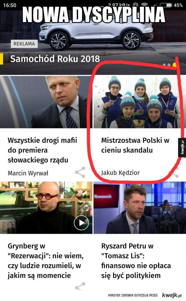 Nowa dyscyplina w Polsce