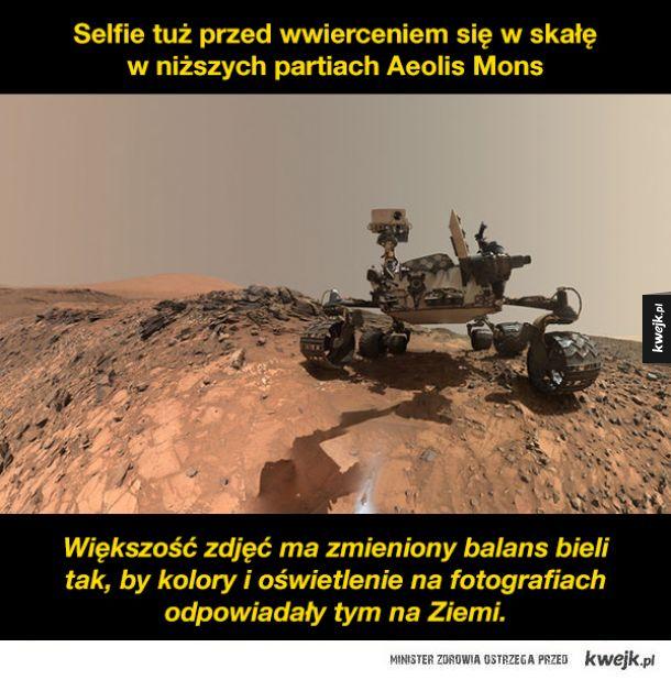 Zdjęcia z Marsa zrobione przez łazik Curiosity