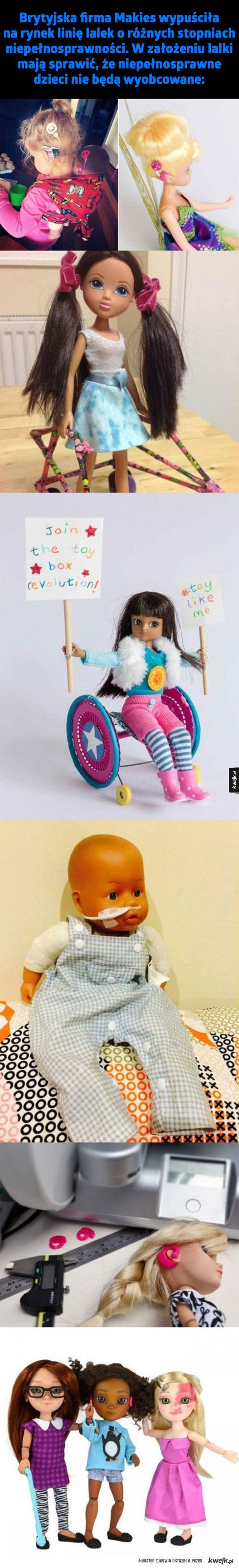 Lalki o różnych stopniach niepełnosprawności