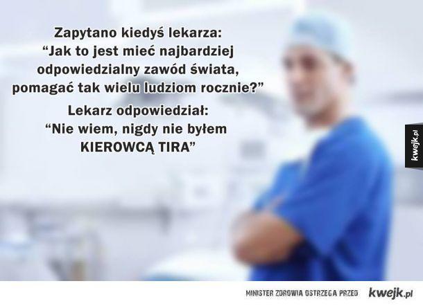 Lekarz mówi prawdę