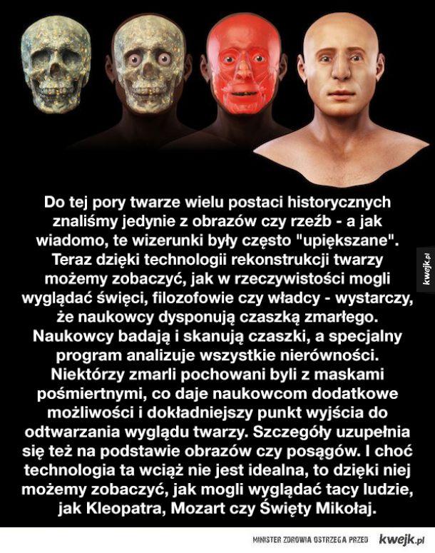 Jak wyglądały twarze znanych postaci historycznych