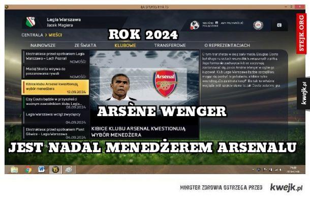 Arsène Wenger-menedżer na lata :D