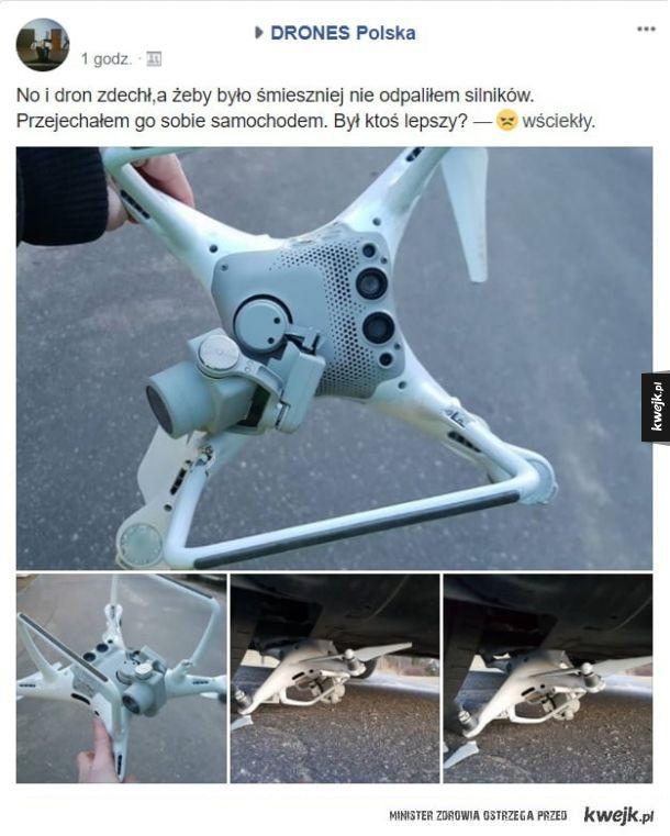 Dron nie przetrwał
