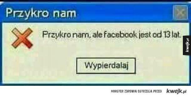 Facebook jest od 13 lat