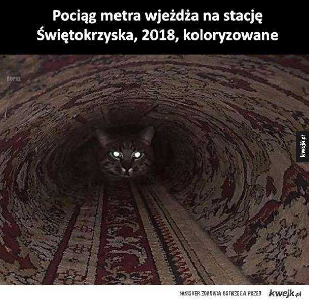 Wjeżdża pociąg