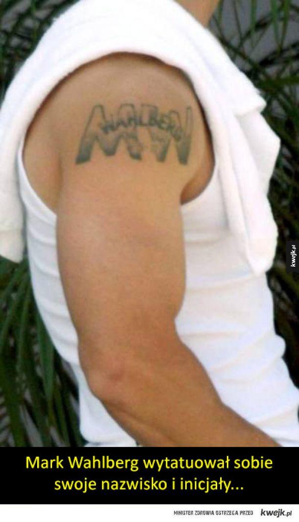 """Bardzo """"ambitne"""" tatuaże celebrytów"""