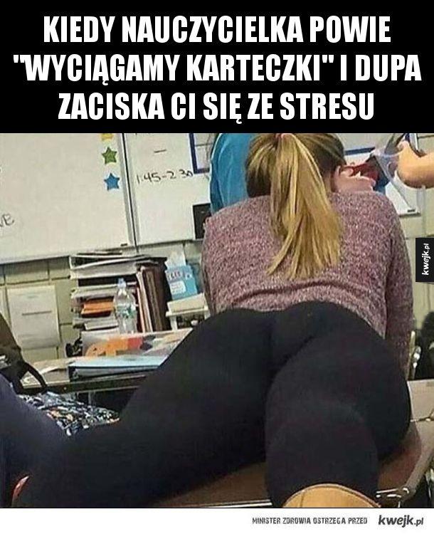 Największy stres w szkole