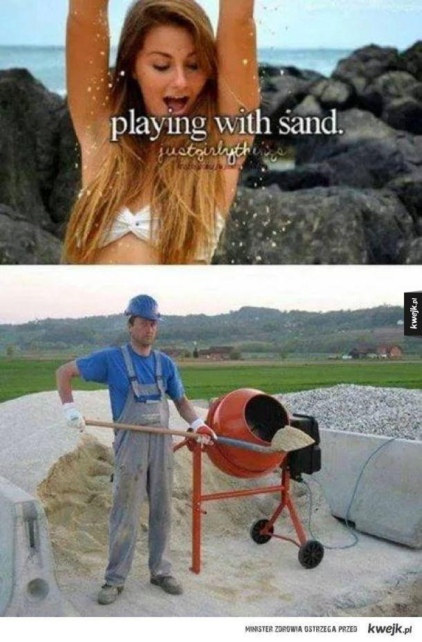Zabawy z piaskiem