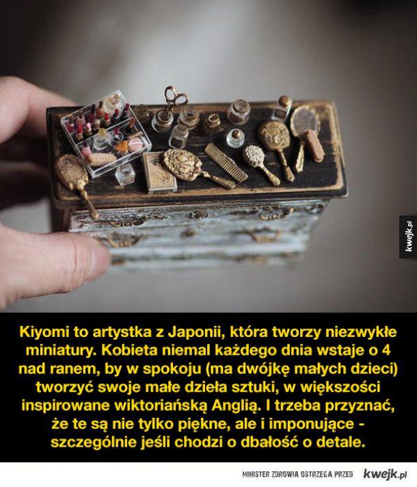 Niezwykłe miniatury wykonane przez Kiyomi