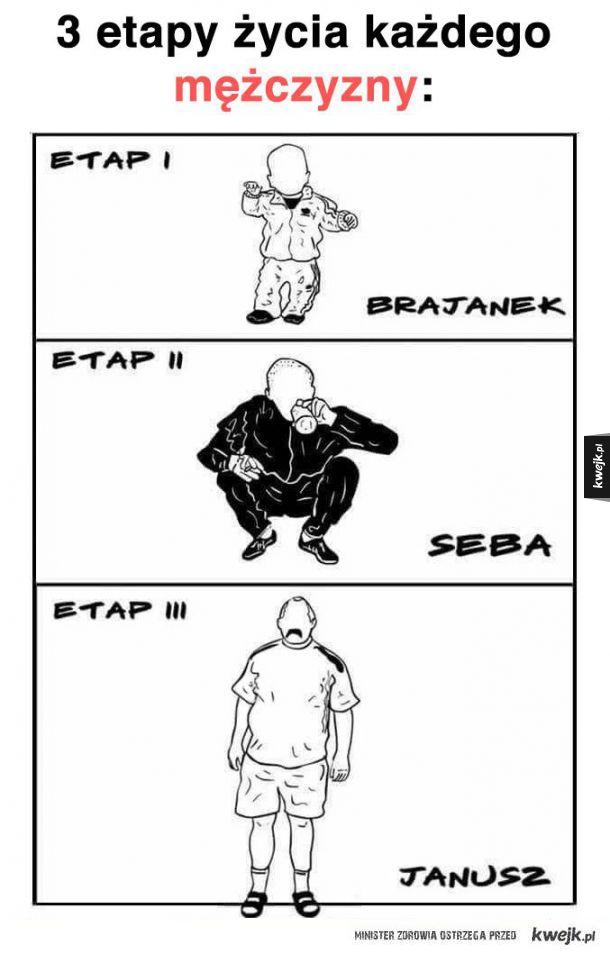 # etapy życia mężczyzny
