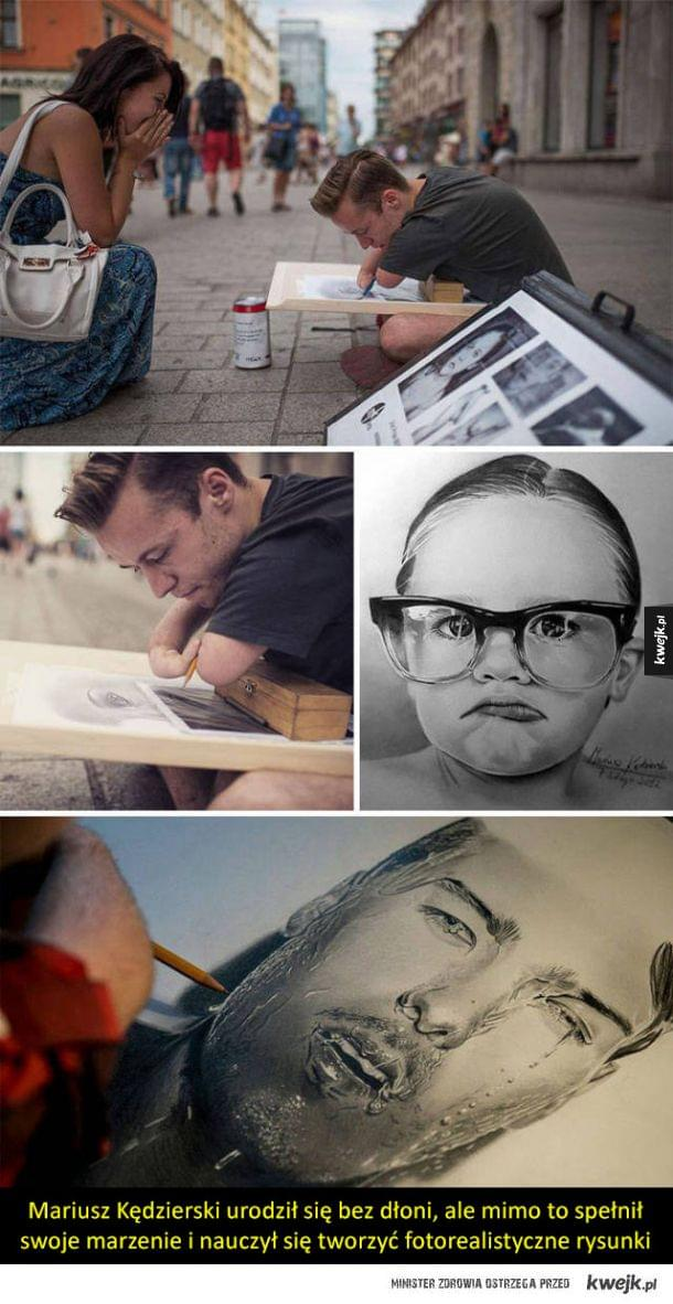 Niepełnosprawność nie powstrzyma kogoś, kto ma duszę artysty