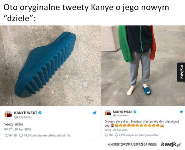 Kanye West pokazał prototyp nowych butów Yeezy Slides, a Internet zareagował śmieszkami