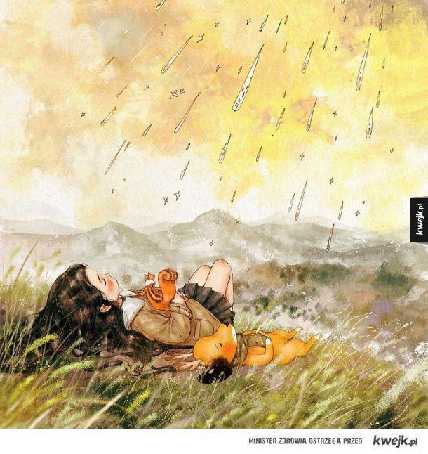Uroki chwil spędzonych w samotności na ilustracjach koreańskiej artystki Aeppol