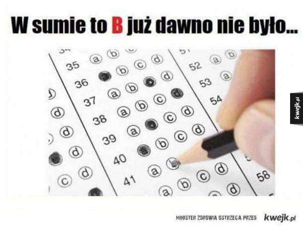 Dziś na egzaminie