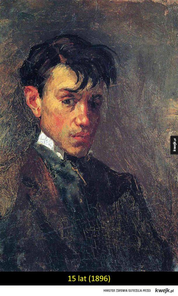 Autoportrety Picasso z różnych okresów życia pokazują ewolucję jego stylu