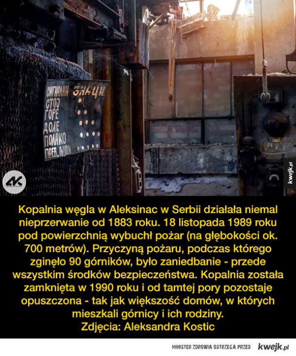Fotografie z opuszczonej kopalni w Serbii