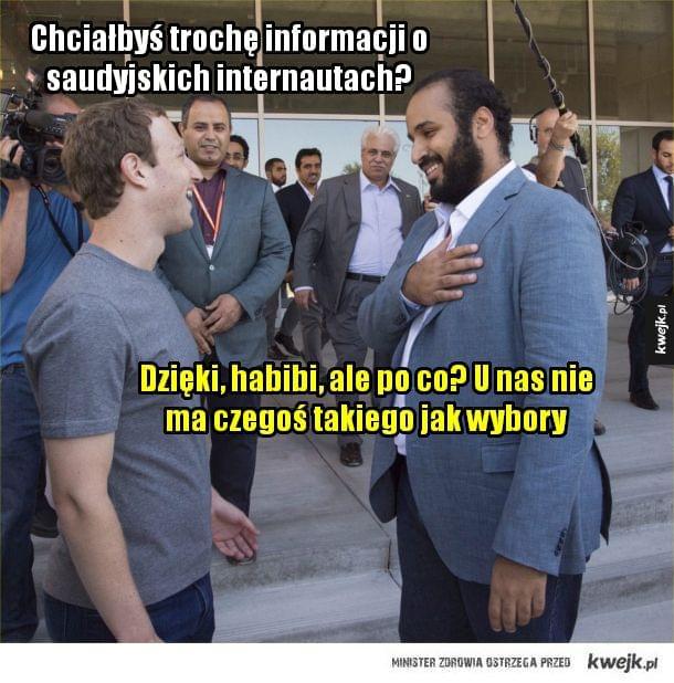 Mark Zuckerberg i książę Arabii Saudyjskiej