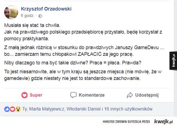 Niecodzienna postawa w polskim GameDevie :D