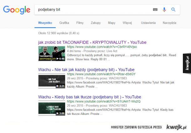 Kiedy kradniesz bit a google już o tym wie :D