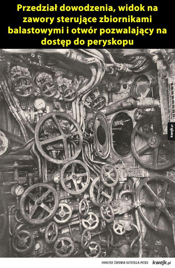 Wnętrze UB-110 niemieckiego okrętu podwodnego z I wojny światowej
