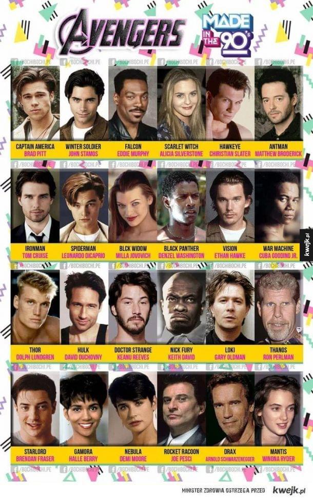 Gdyby Avengers nagrywano w latach 90`