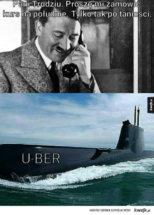Uber podpływa
