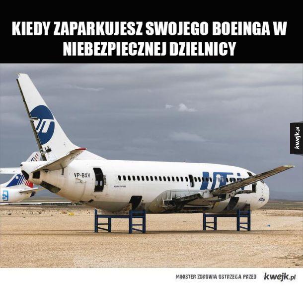Rozebrany Boeing