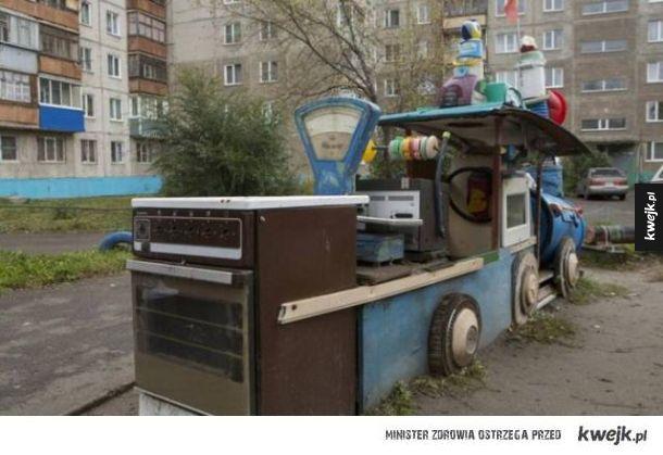 Nawet place zabaw w Rosji są dziwne i przerażające