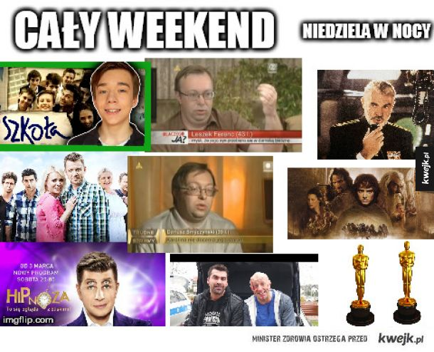 Polska telewizja w weekend