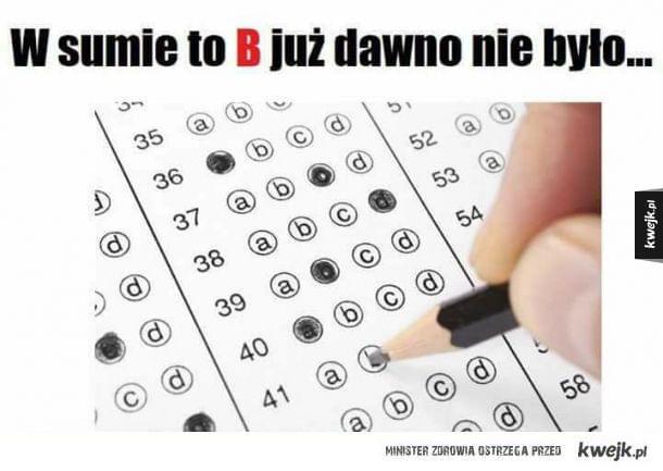 Na egzaminie gimnazjalnym