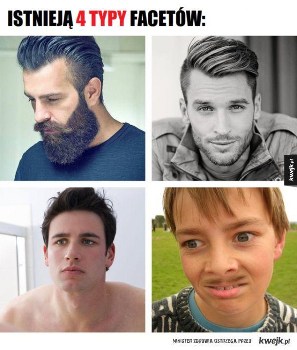 Istnieją 4 typy facetów