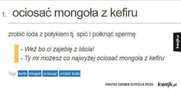 Ciosanie mongoła z kefiru