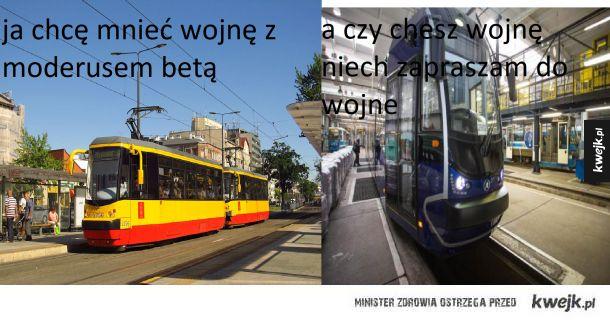 wojna na tramwaje w warszawie