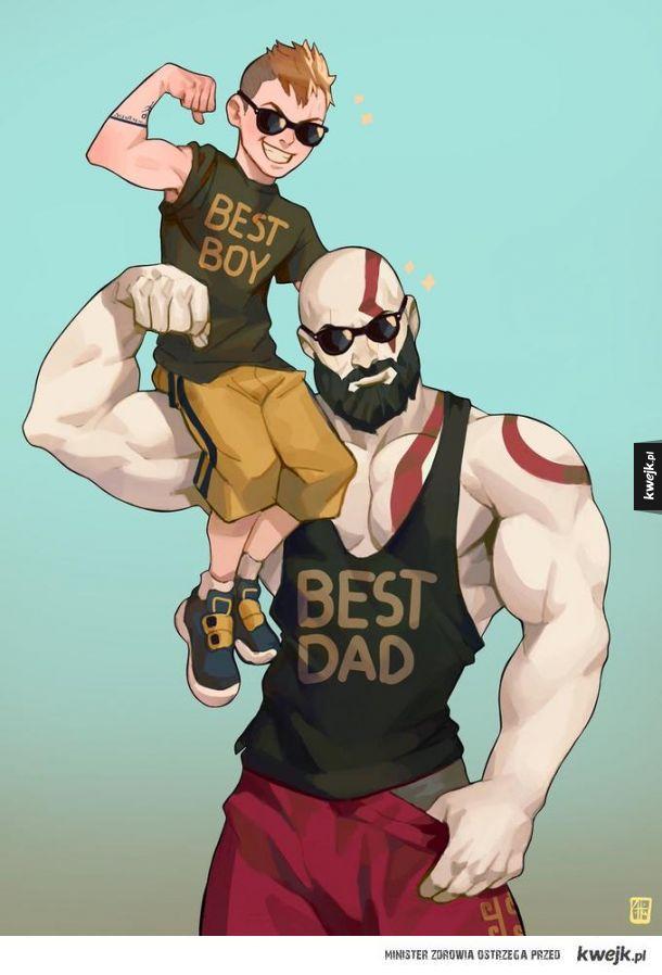 BEST BOY AND DAD.