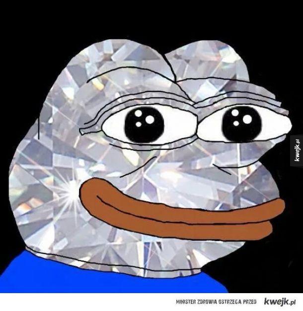Oto ultra rzadkie Diamentowe-Pepe. Zaplusuj, a będziesz bogaty