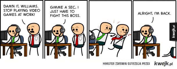Pokonać szefa.