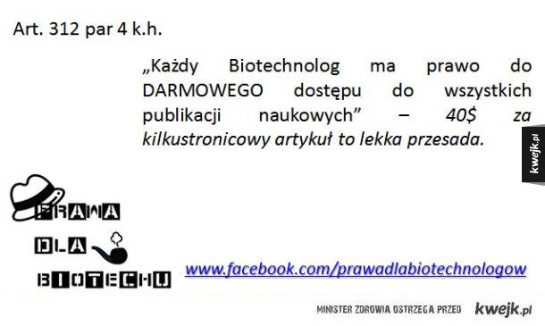 Prawa dla Biotechnologów