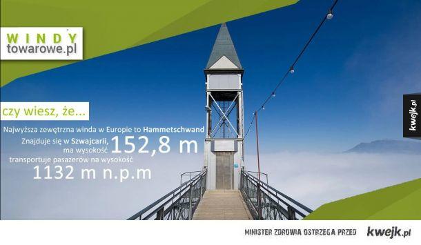 Najwyższa winda w Europie