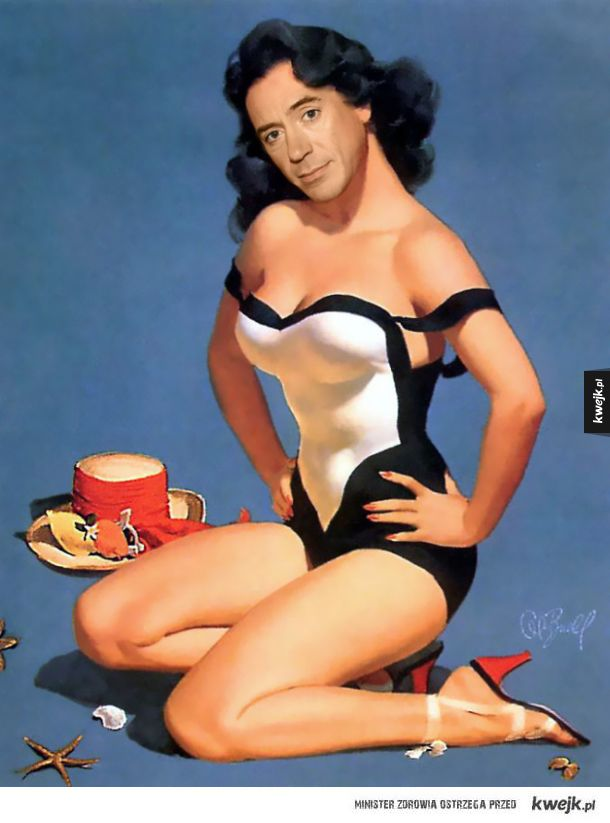 Robert Downey Jr. jako Pin-Up Girl