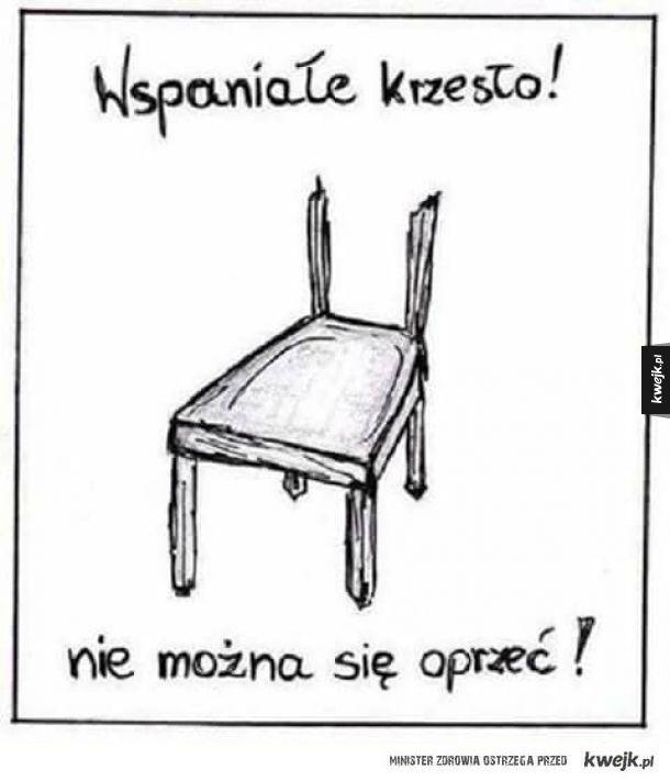 Wspaniałe krzesło
