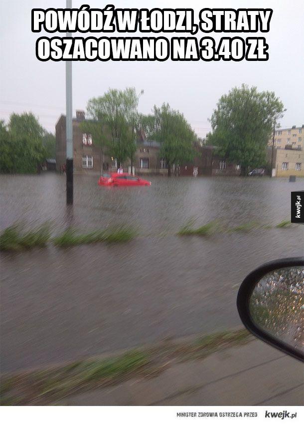 Powódź w Łodzi