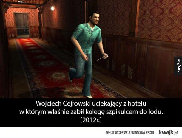 Cejrowski ucieka z hotelu
