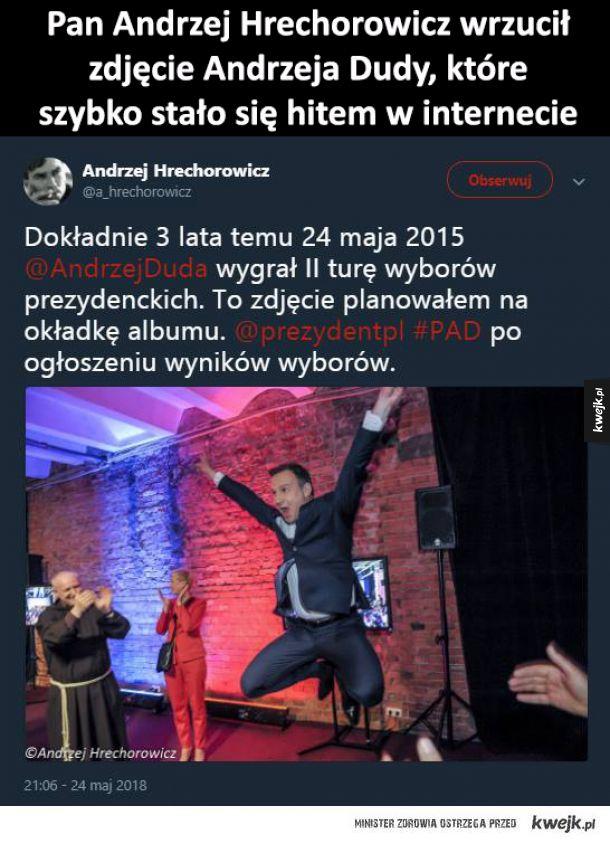 Przeróbki internautów nowego zdjęcia Andrzeja Dudy