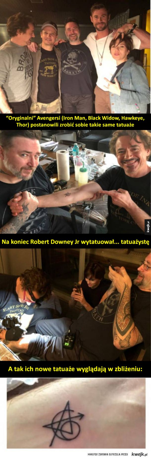 Avengersi mają teraz takie same tatuaże