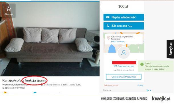 Niesamowita kanapa!