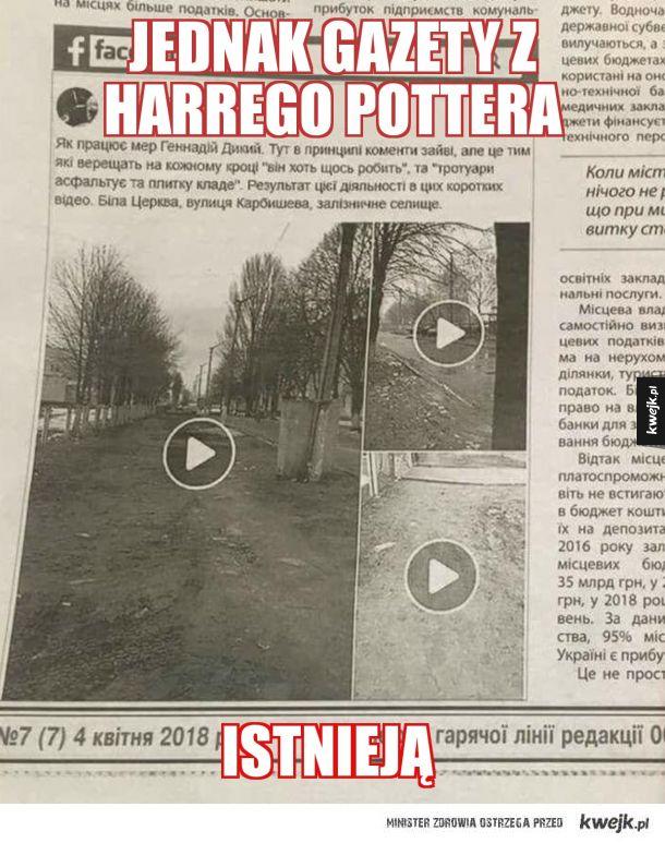 Gazety z Harrego Pottera