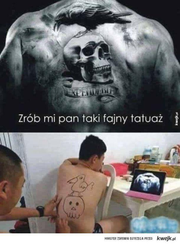 Fajny tatuaż