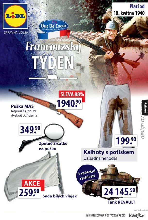 Francuzki tydzień w czeskim lidlu