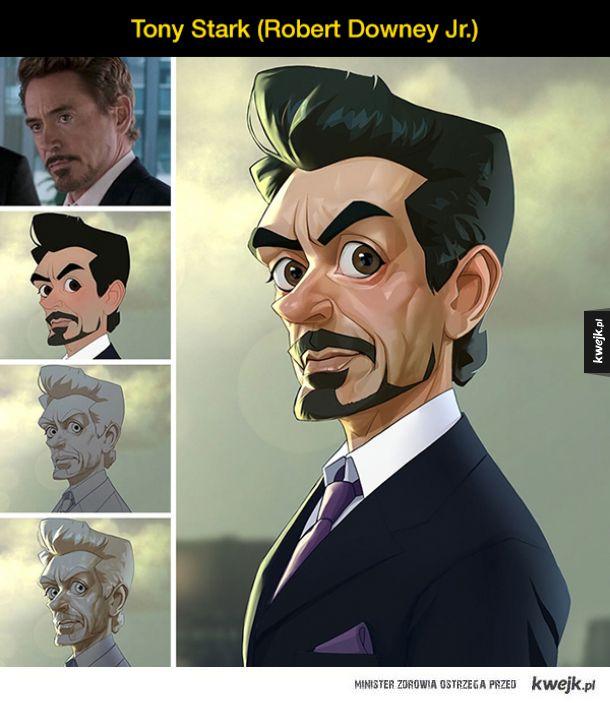 Bohaterowie filmowi jako postacie z kreskówek (ilustracje Xi Dinga)